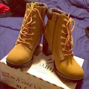Heeled Boots NWOT